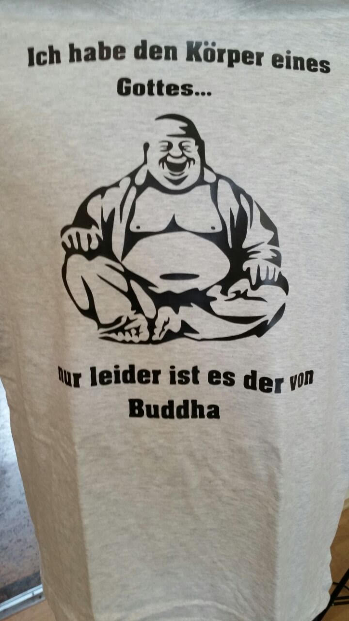T Shirtdruck Buddha Funshirt